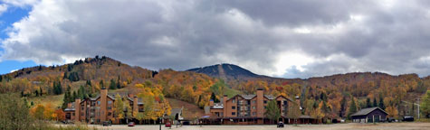 Pico Mountain enrobed in fall color.