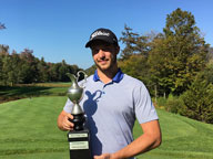 Phil Tarren at Green Mountain National Golf Course with the Birch Ridge Cup (Photo courtesy of Bobby Peterson at GNMNGC)