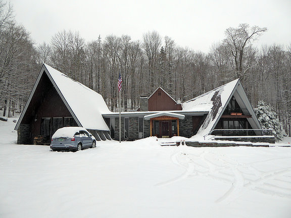Birch Ridge Inn Covered in snow