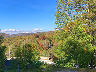 View from the office window at the Birch Ridge Inn in Killington across the Roaring Brook Valley